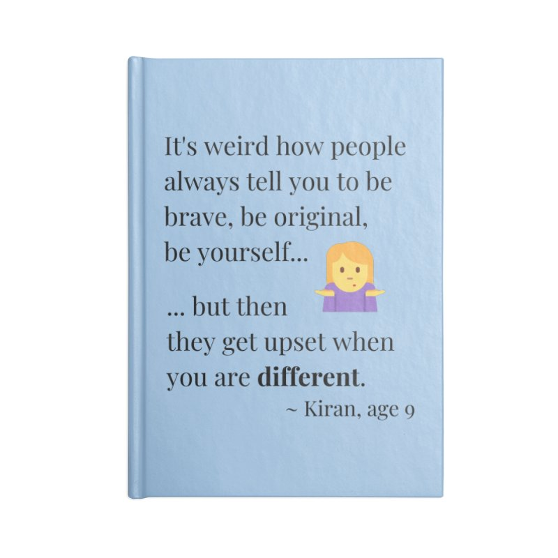 Being Different Accessories Blank Journal Notebook by XpressYourPower Shop