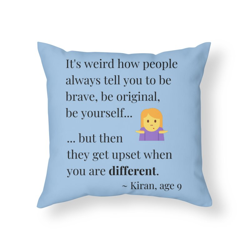 Being Different Home Throw Pillow by XpressYourPower Shop