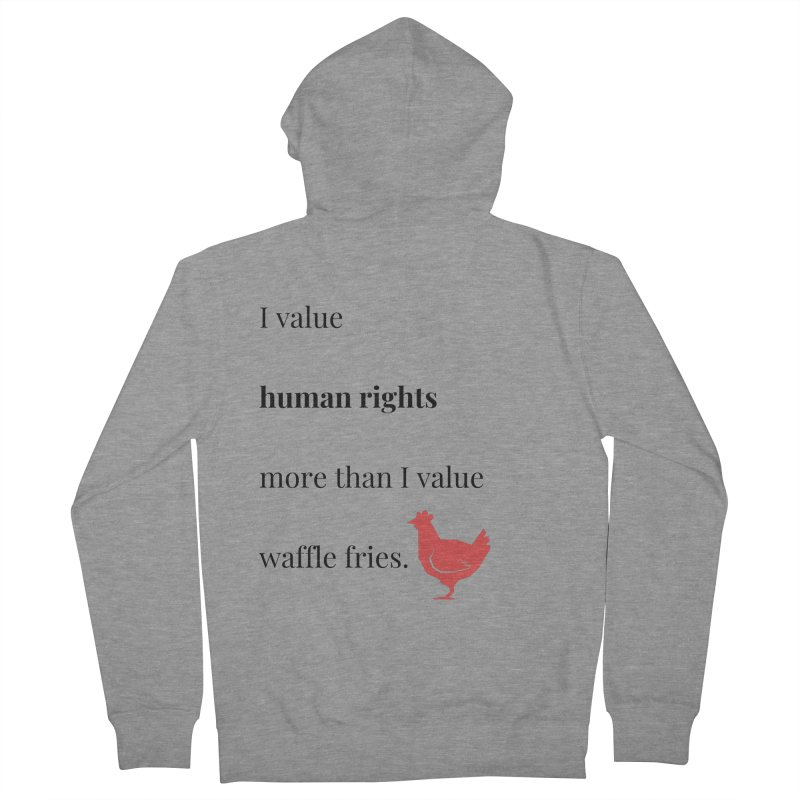 Human Rights Men's French Terry Zip-Up Hoody by XpressYourPower Shop