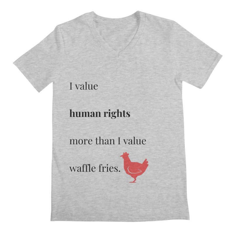 Human Rights Men's Regular V-Neck by XpressYourPower Shop