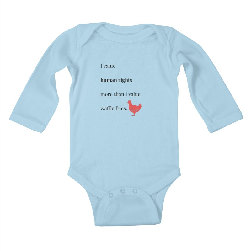 Human Rights Kids Baby Longsleeve Bodysuit by XpressYourPower Shop