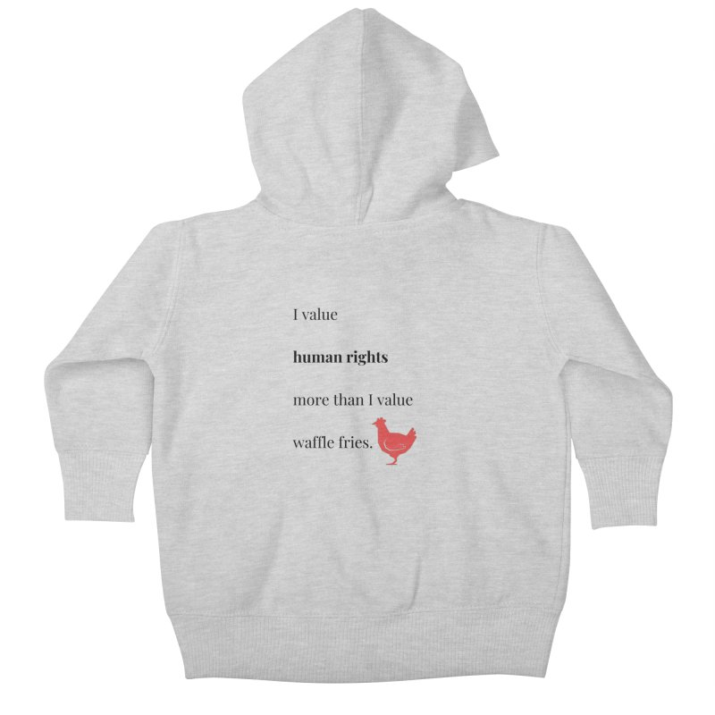 Human Rights Kids Baby Zip-Up Hoody by XpressYourPower Shop