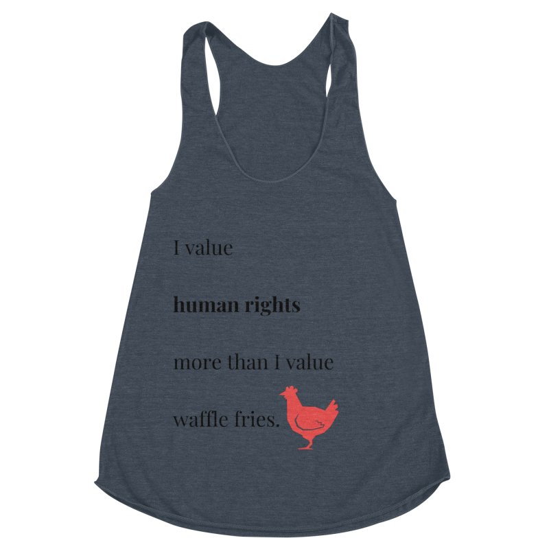 Human Rights Women's Racerback Triblend Tank by XpressYourPower Shop