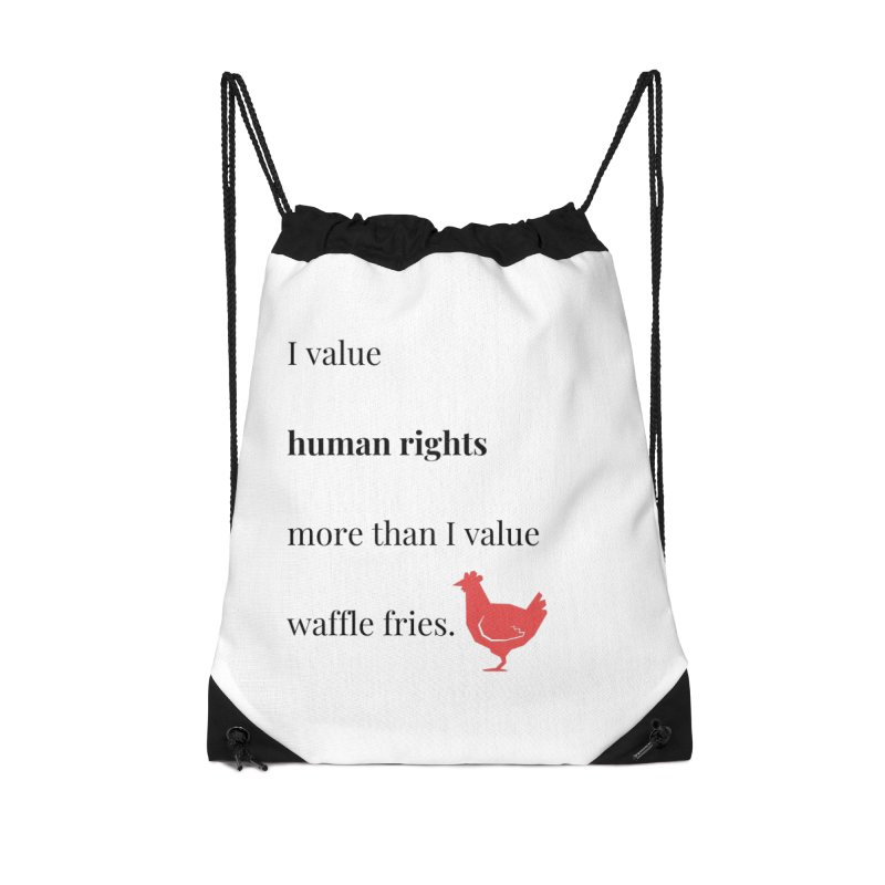 Human Rights Accessories Drawstring Bag Bag by XpressYourPower Shop