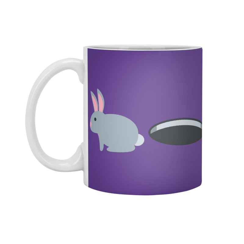 Rabbit Hole Emoji Accessories Standard Mug by XpressYourPower Shop
