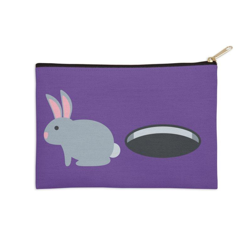Rabbit Hole Emoji Accessories Zip Pouch by XpressYourPower Shop