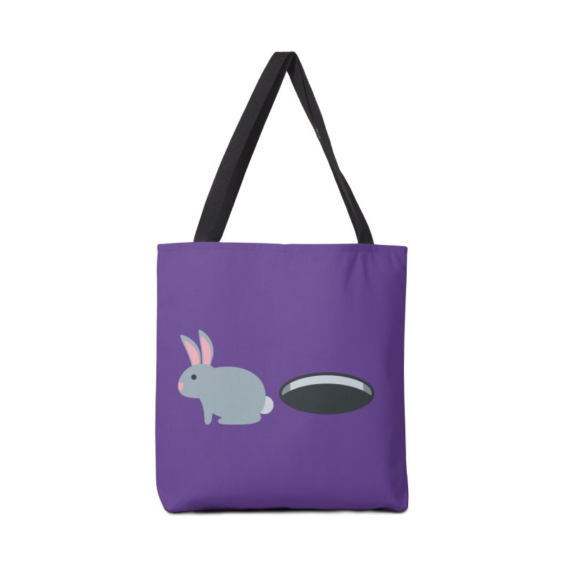 Rabbit Hole Emoji Accessories Tote Bag Bag by XpressYourPower Shop