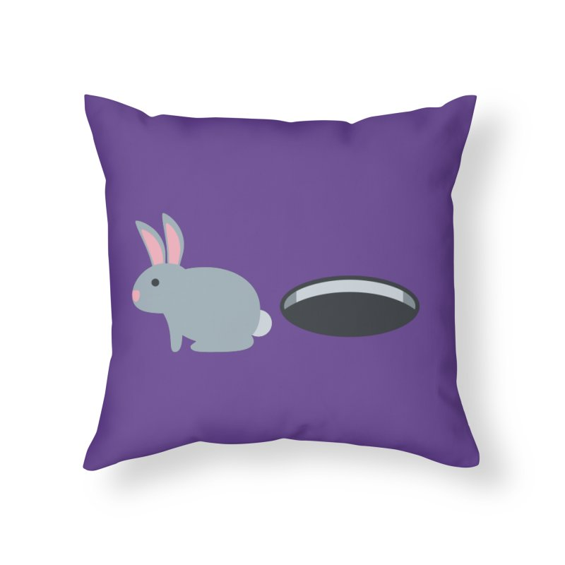 Rabbit Hole Emoji Home Throw Pillow by XpressYourPower Shop
