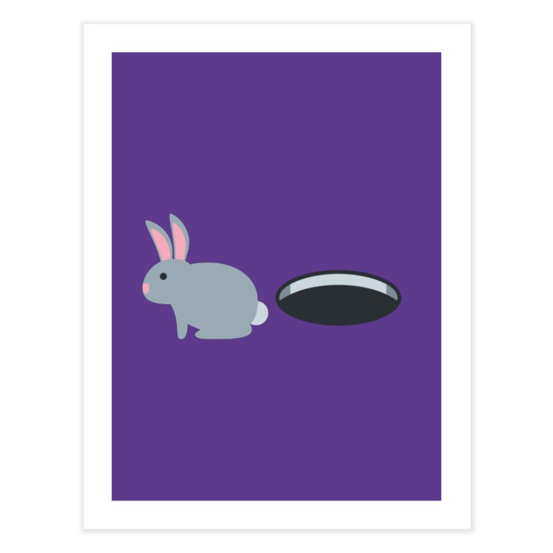 Rabbit Hole Emoji Home Fine Art Print by XpressYourPower Shop