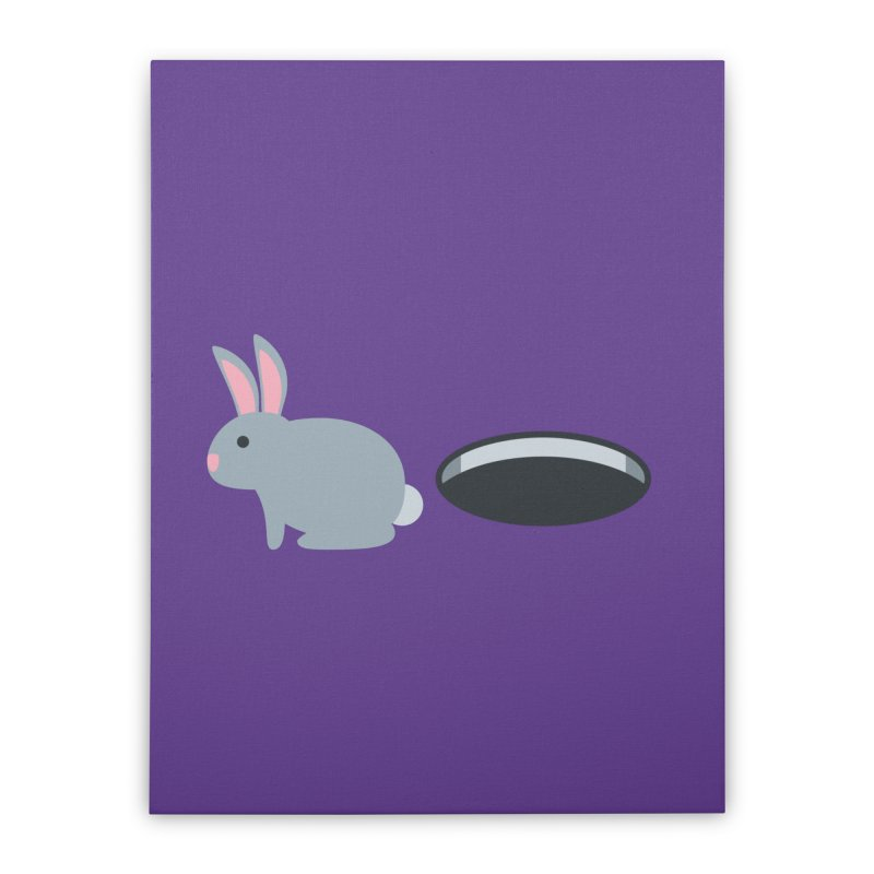 Rabbit Hole Emoji Home Stretched Canvas by XpressYourPower Shop