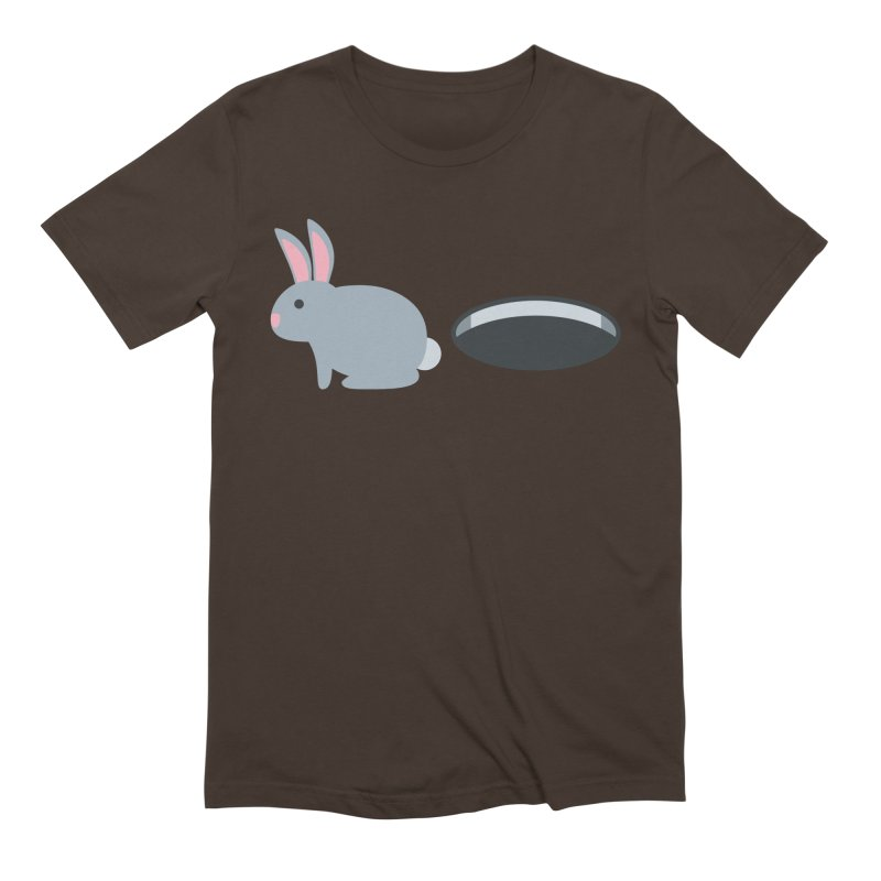 Rabbit Hole Emoji Men's Extra Soft T-Shirt by XpressYourPower Shop