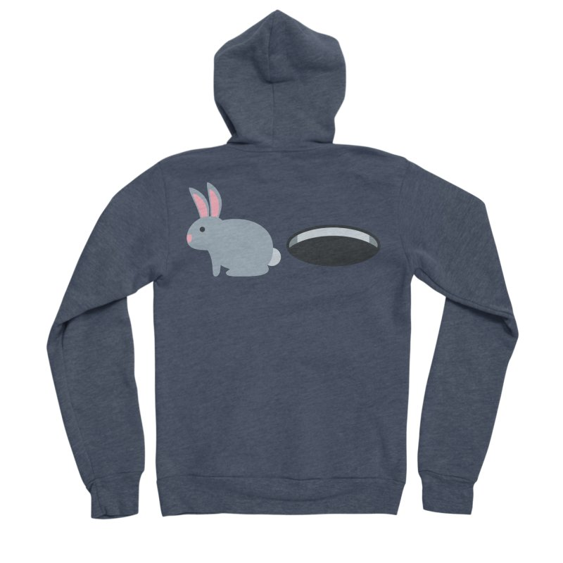 Rabbit Hole Emoji Women's Sponge Fleece Zip-Up Hoody by XpressYourPower Shop