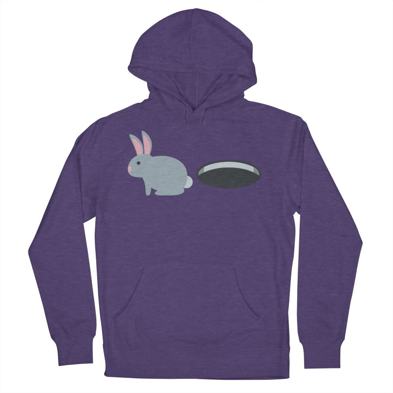 Rabbit Hole Emoji Men's French Terry Pullover Hoody by XpressYourPower Shop