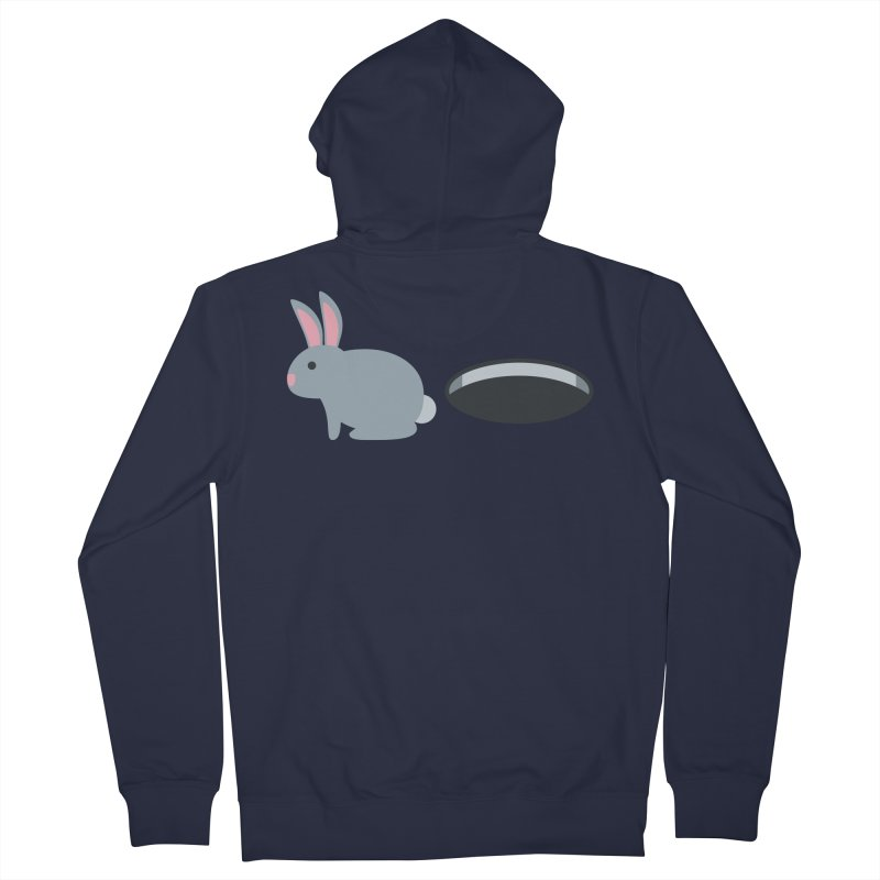 Rabbit Hole Emoji Women's French Terry Zip-Up Hoody by XpressYourPower Shop