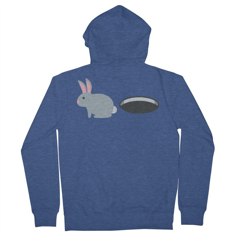 Rabbit Hole Emoji Men's French Terry Zip-Up Hoody by XpressYourPower Shop