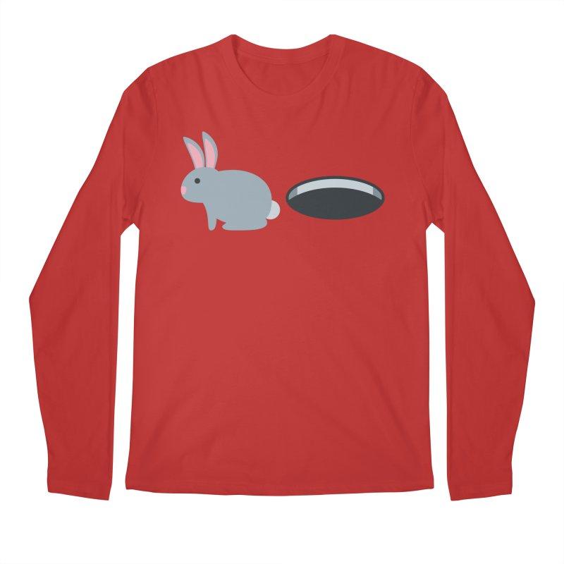 Rabbit Hole Emoji Men's Regular Longsleeve T-Shirt by XpressYourPower Shop