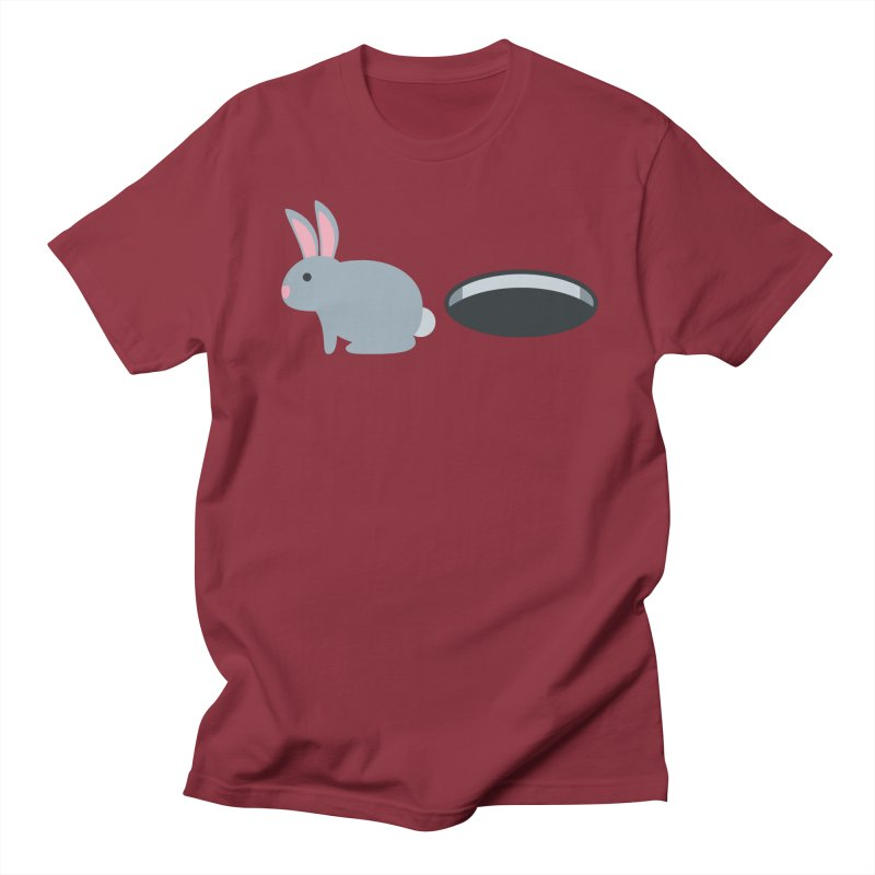 Rabbit Hole Emoji Men's Regular T-Shirt by XpressYourPower Shop