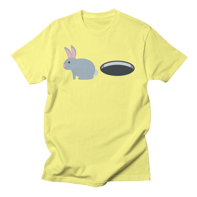 Rabbit Hole Emoji Women's Regular Unisex T-Shirt by XpressYourPower Shop