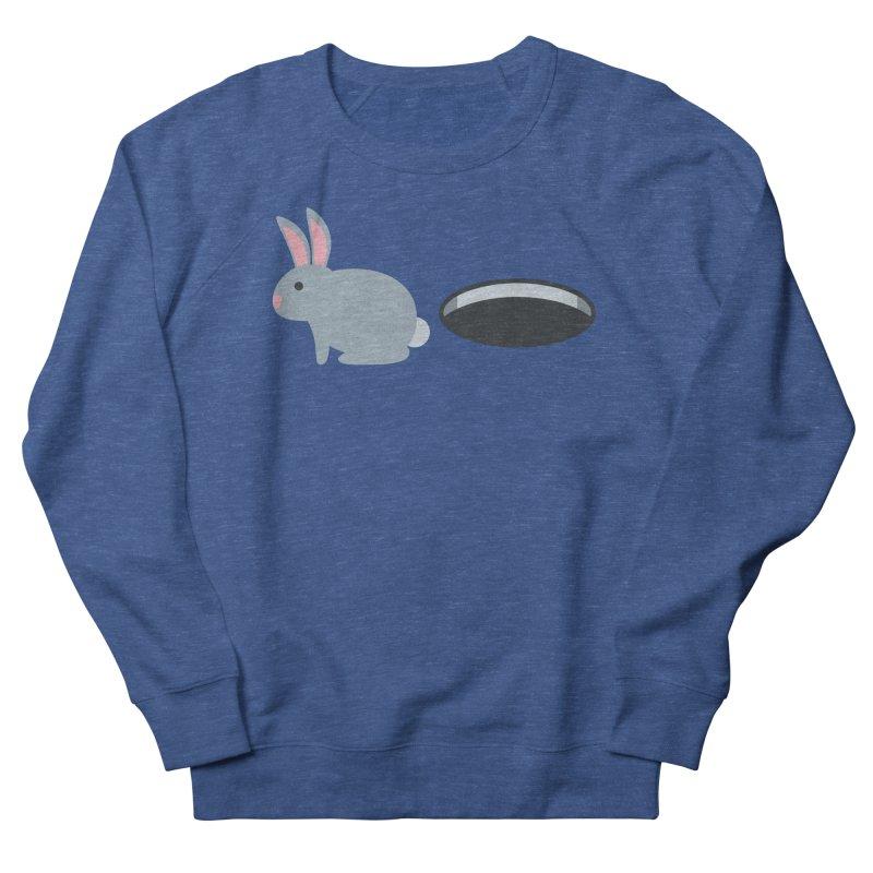Rabbit Hole Emoji Women's French Terry Sweatshirt by XpressYourPower Shop