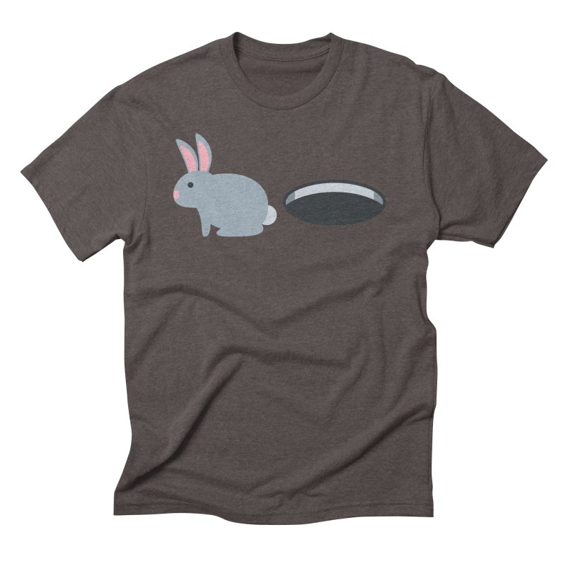 Rabbit Hole Emoji Men's Triblend T-Shirt by XpressYourPower Shop
