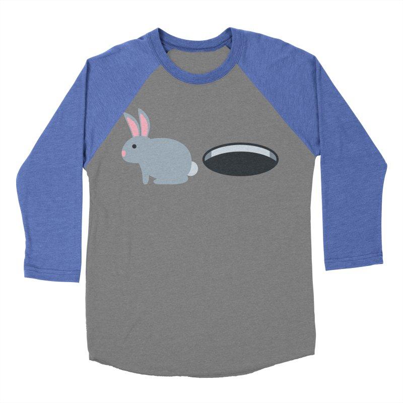 Rabbit Hole Emoji Men's Baseball Triblend Longsleeve T-Shirt by XpressYourPower Shop