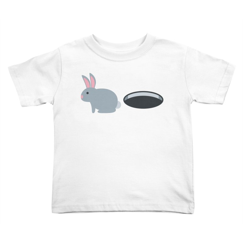 Rabbit Hole Emoji Kids Toddler T-Shirt by XpressYourPower Shop