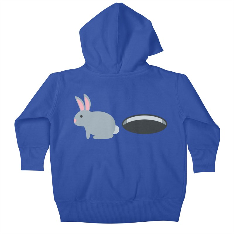 Rabbit Hole Emoji Kids Baby Zip-Up Hoody by XpressYourPower Shop