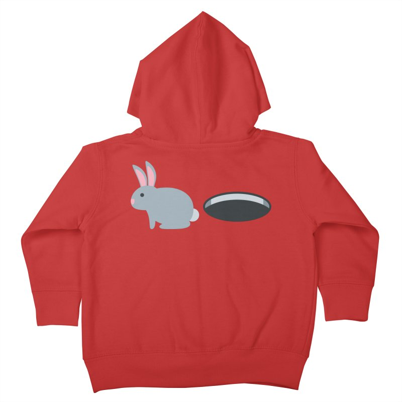 Rabbit Hole Emoji Kids Toddler Zip-Up Hoody by XpressYourPower Shop