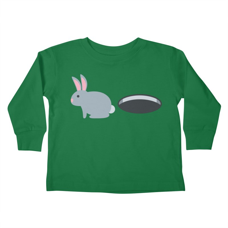 Rabbit Hole Emoji Kids Toddler Longsleeve T-Shirt by XpressYourPower Shop