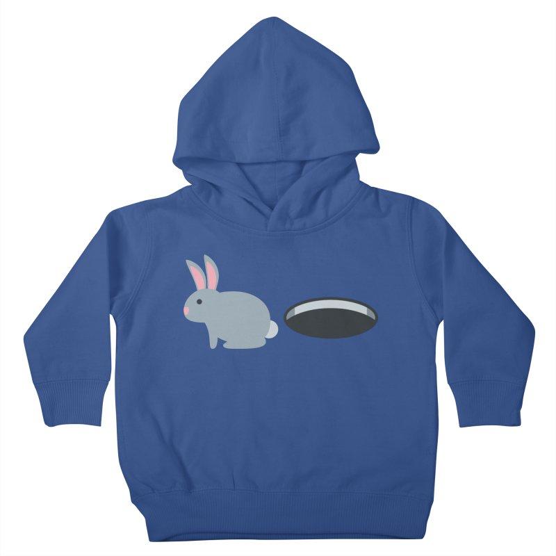 Rabbit Hole Emoji Kids Toddler Pullover Hoody by XpressYourPower Shop