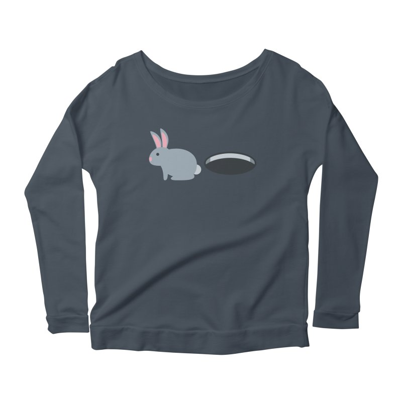 Rabbit Hole Emoji Women's Scoop Neck Longsleeve T-Shirt by XpressYourPower Shop