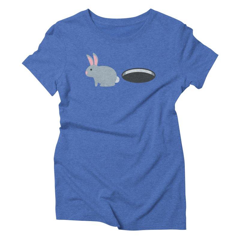 Rabbit Hole Emoji Women's Triblend T-Shirt by XpressYourPower Shop