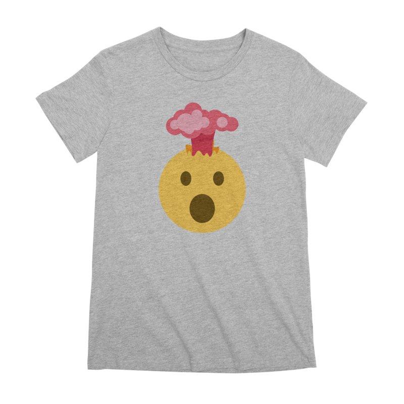 Mind Blown Emoji Women's Premium T-Shirt by XpressYourPower Shop