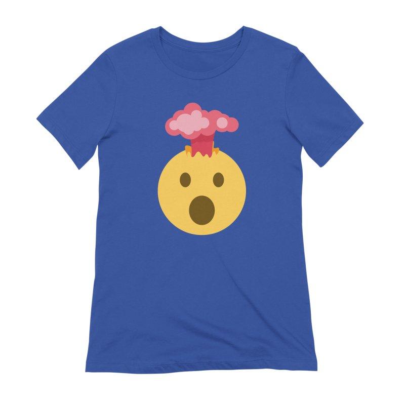 Mind Blown Emoji Women's Extra Soft T-Shirt by XpressYourPower Shop