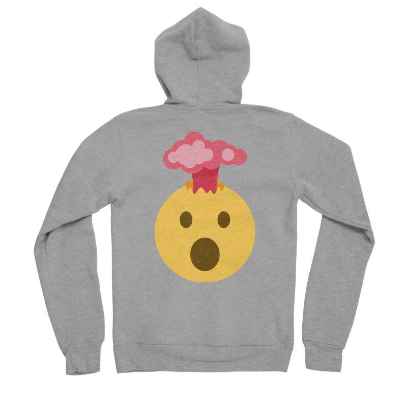 Mind Blown Emoji Men's Sponge Fleece Zip-Up Hoody by XpressYourPower Shop