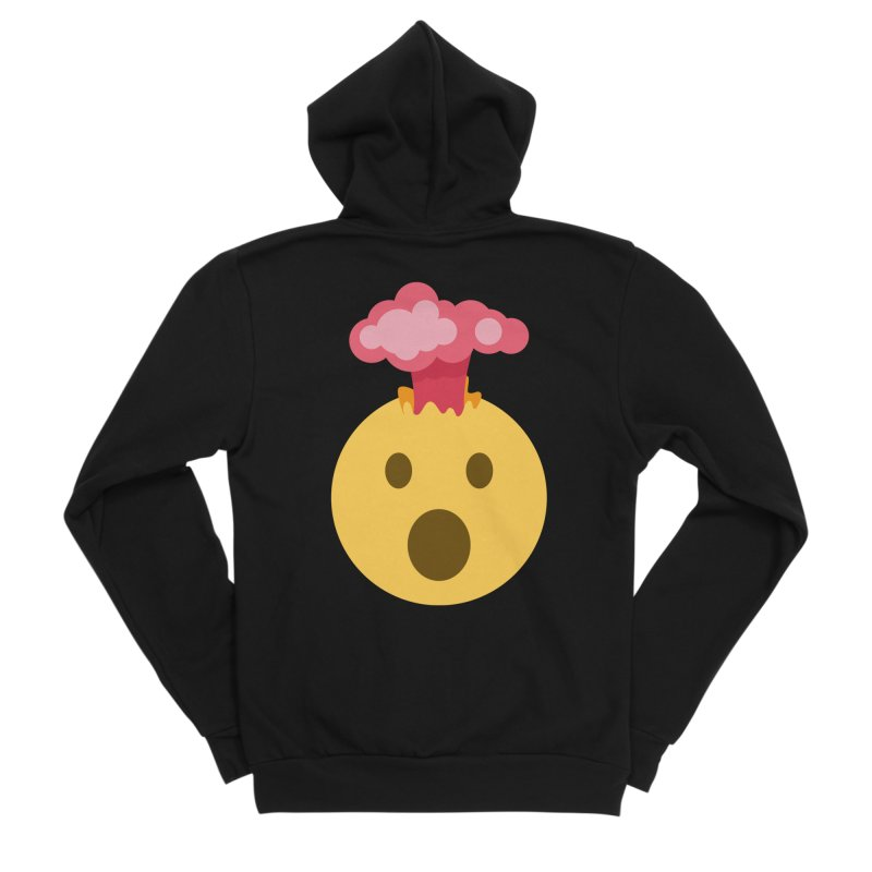 Mind Blown Emoji Women's Sponge Fleece Zip-Up Hoody by XpressYourPower Shop