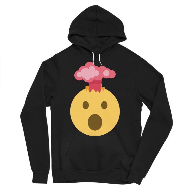 Mind Blown Emoji Men's Sponge Fleece Pullover Hoody by XpressYourPower Shop