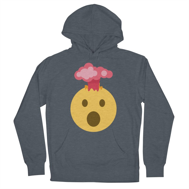 Mind Blown Emoji Men's French Terry Pullover Hoody by XpressYourPower Shop