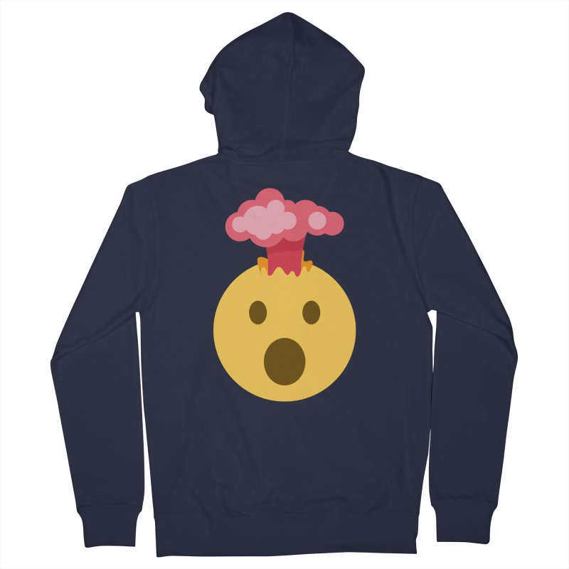 Mind Blown Emoji Women's French Terry Zip-Up Hoody by XpressYourPower Shop