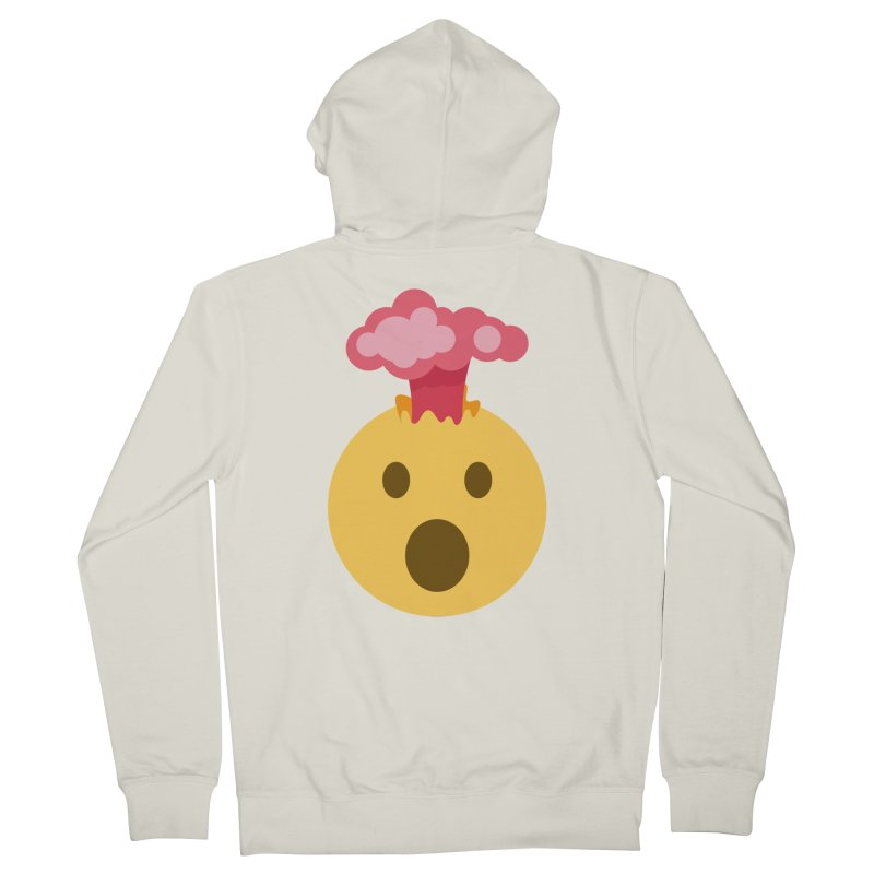 Mind Blown Emoji Men's French Terry Zip-Up Hoody by XpressYourPower Shop