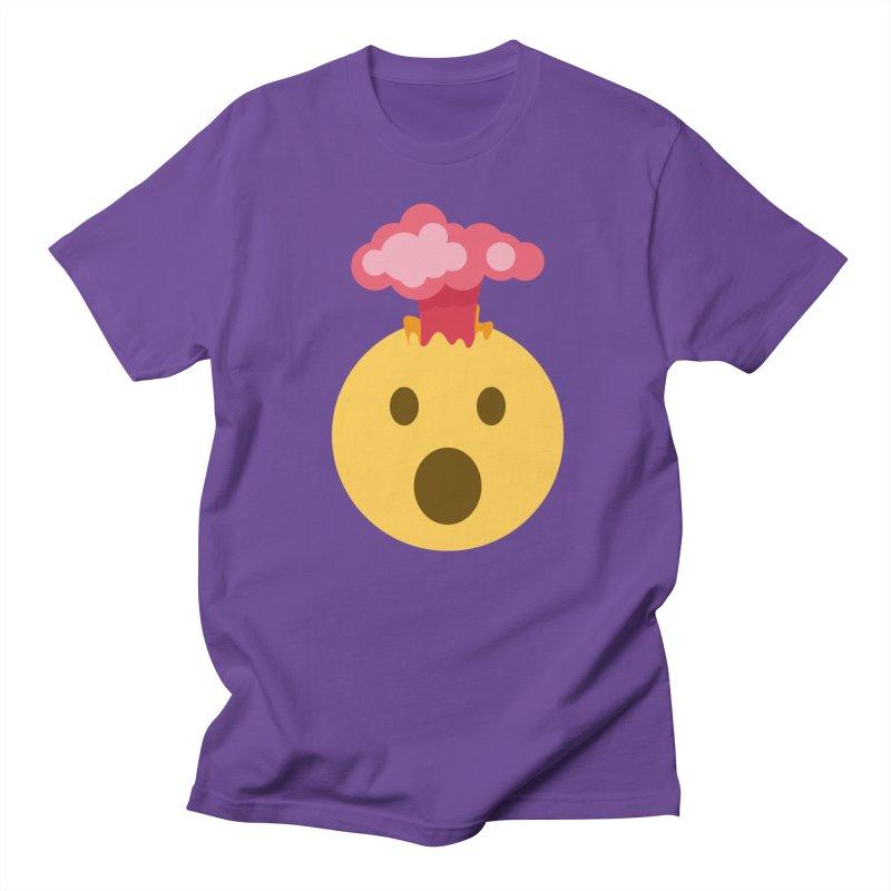 Mind Blown Emoji Men's Regular T-Shirt by XpressYourPower Shop