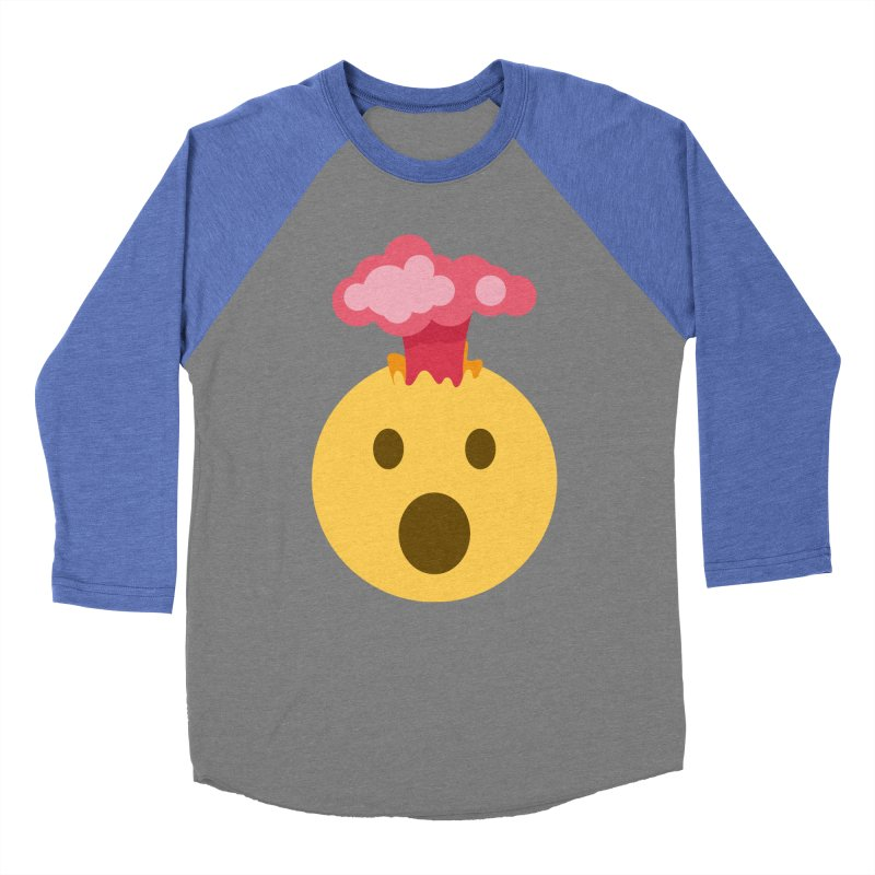 Mind Blown Emoji Women's Baseball Triblend Longsleeve T-Shirt by XpressYourPower Shop