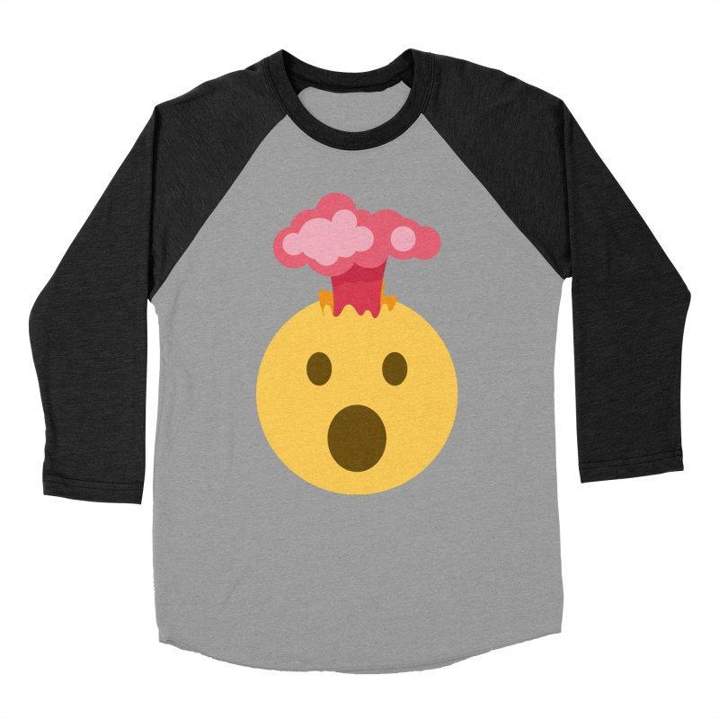 Mind Blown Emoji Men's Baseball Triblend Longsleeve T-Shirt by XpressYourPower Shop
