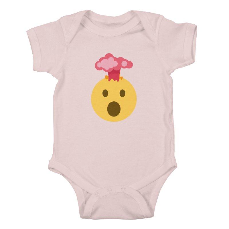 Mind Blown Emoji Kids Baby Bodysuit by XpressYourPower Shop