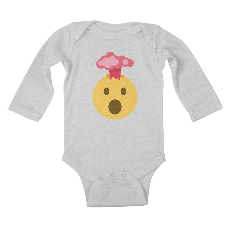 Mind Blown Emoji Kids Baby Longsleeve Bodysuit by XpressYourPower Shop