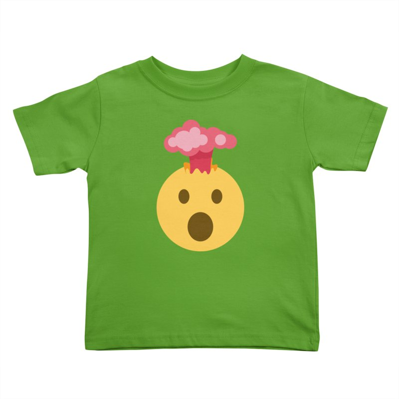 Mind Blown Emoji Kids Toddler T-Shirt by XpressYourPower Shop