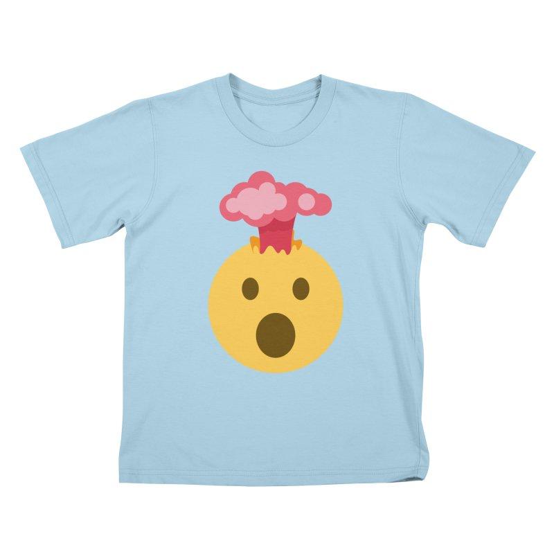 Mind Blown Emoji Kids T-Shirt by XpressYourPower Shop