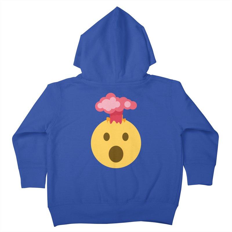 Mind Blown Emoji Kids Toddler Zip-Up Hoody by XpressYourPower Shop