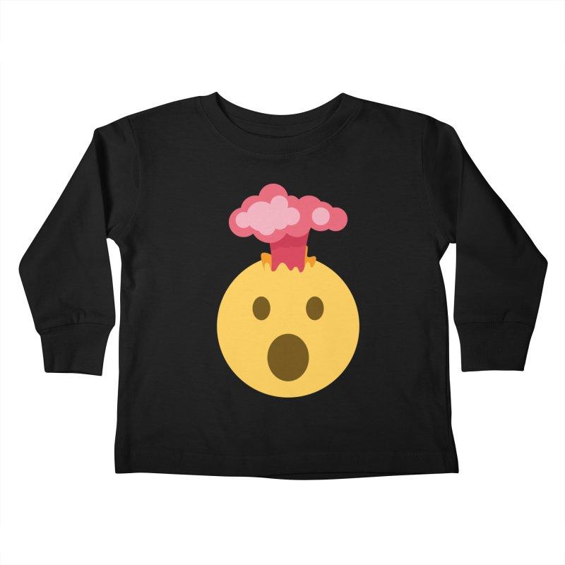 Mind Blown Emoji Kids Toddler Longsleeve T-Shirt by XpressYourPower Shop