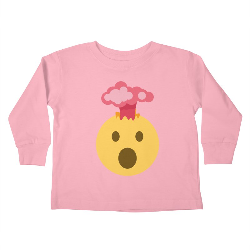 Mind Blown Emoji Kids Toddler Longsleeve T-Shirt by XpressYourPower Shop